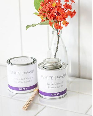 White Wash Candle - Gypsy