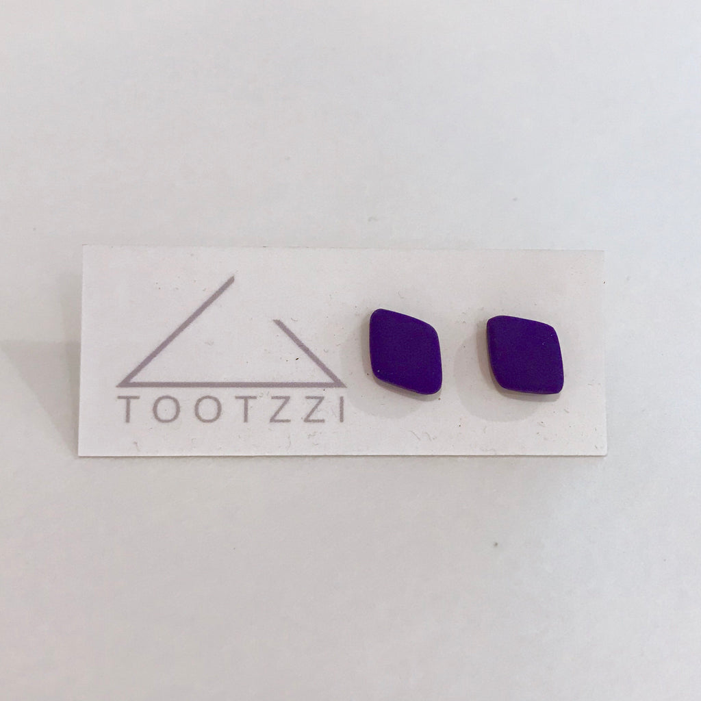 Basics - Diamond Studs - Ultraviolet