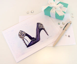 Sparkling Purple Shoes