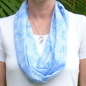 Infinity Scarf - Serenity Blue Palm