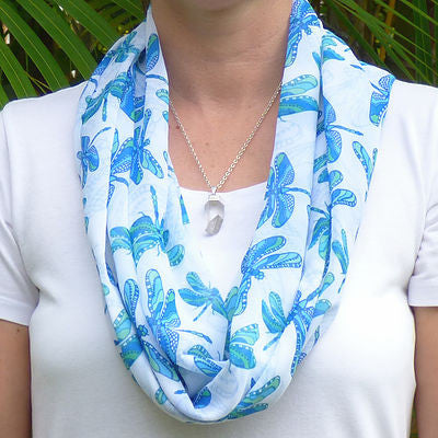 Infinity Scarf - Summer Dragonfly
