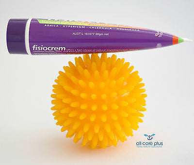 Spiky Ball + Fisiocrem - Natural Pain Relief And Massage