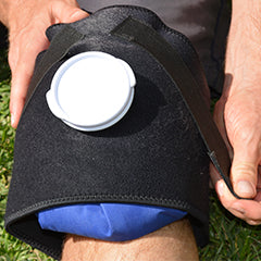 Ice compression on knee