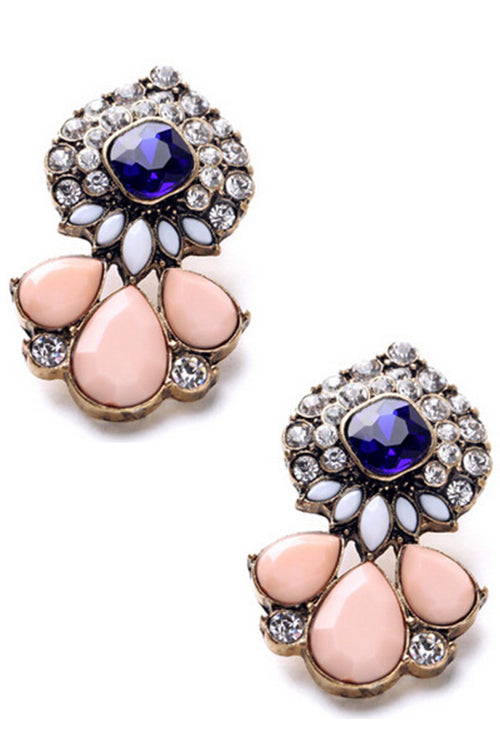 Nathalia Statement Stud Earrings in Pink