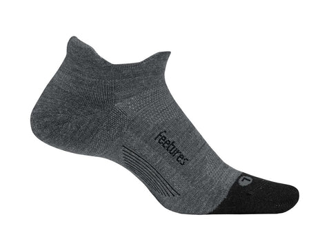 Feetures Merino 10 Cushion No Show Grey