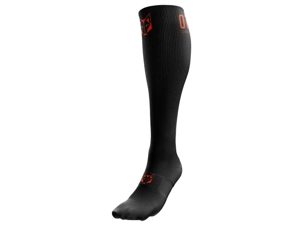 Otso Multi-Sport Recovery Socks Black / Fluo Orange