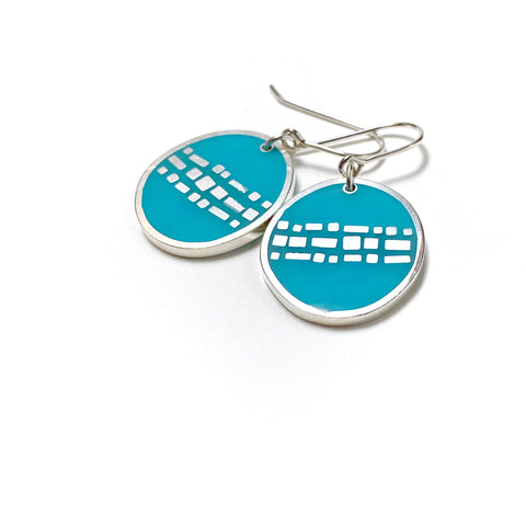 Cobble Earrings scuba blue