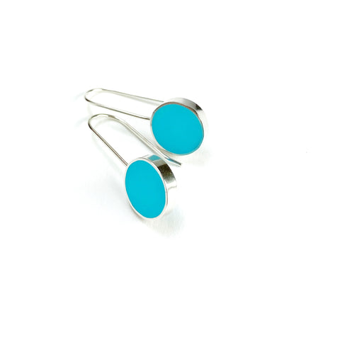 Don't Stop Earrings scuba blue