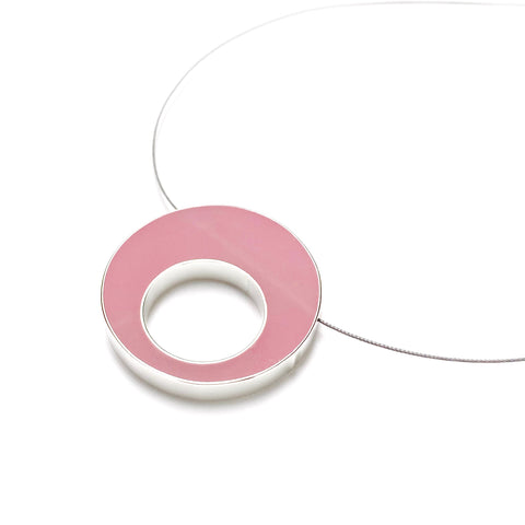 Sometimes Cable Necklace pink
