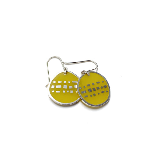 Cobble Earrings yellow