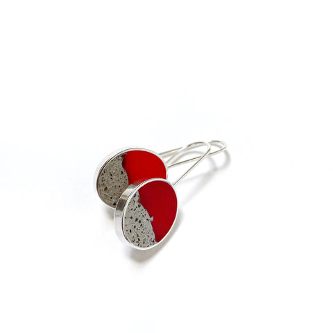Terrain Earrings red