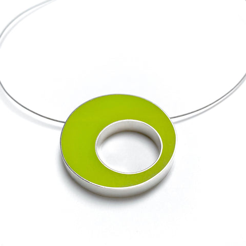 Sometimes Cable Necklace chartreuse