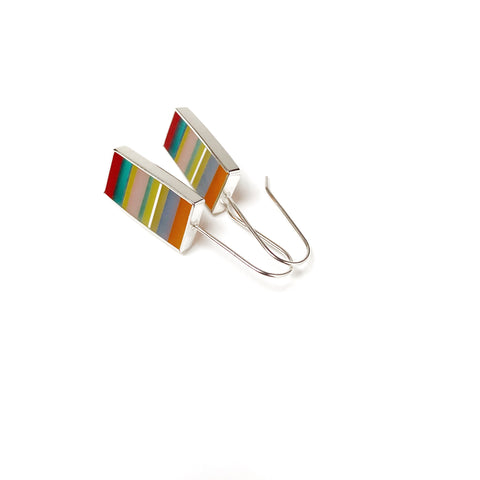 Lined Up Striped Earrings