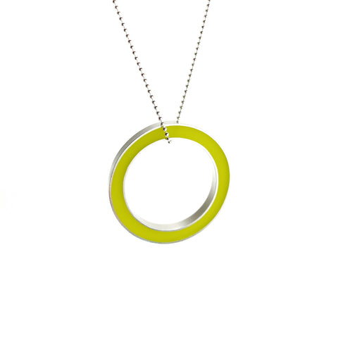 It's Okay Necklace chartreuse