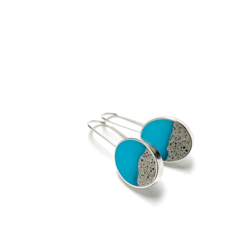 Terrain Earrings scuba blue
