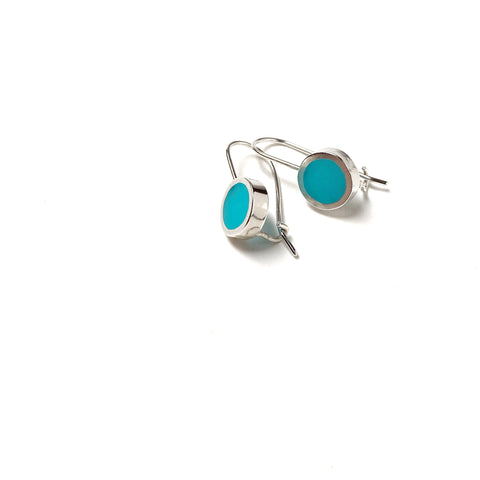 This Year Earrings small scuba blue