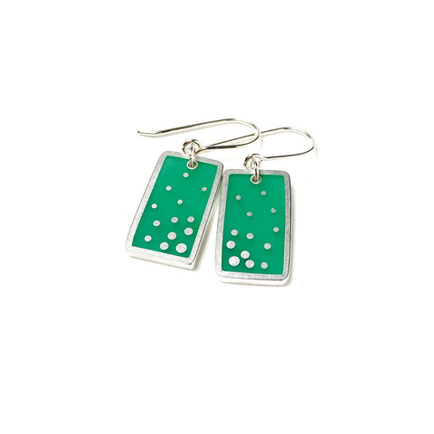 Dashed Earrings green