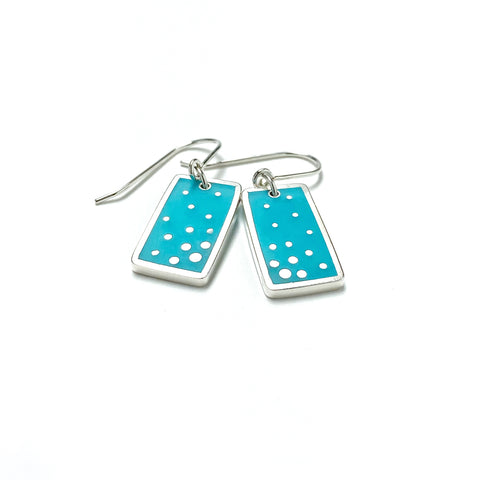 Dashed Earrings scuba blue