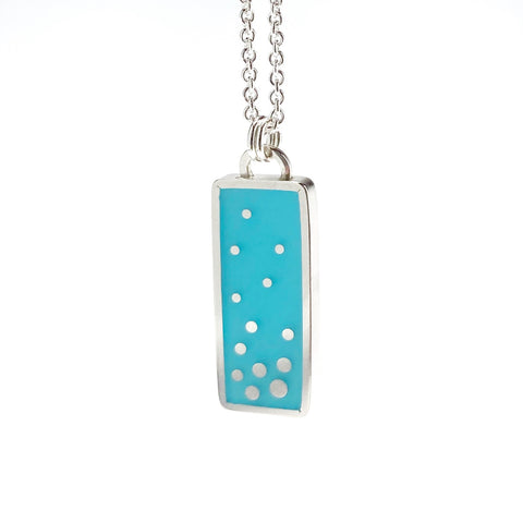 Dashed Necklace in scuba blue