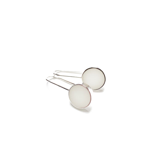 Don't Stop Earrings white