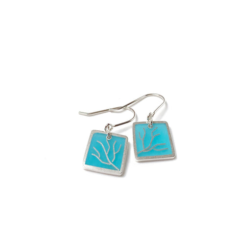 Branching Earrings scuba blue/turquoise