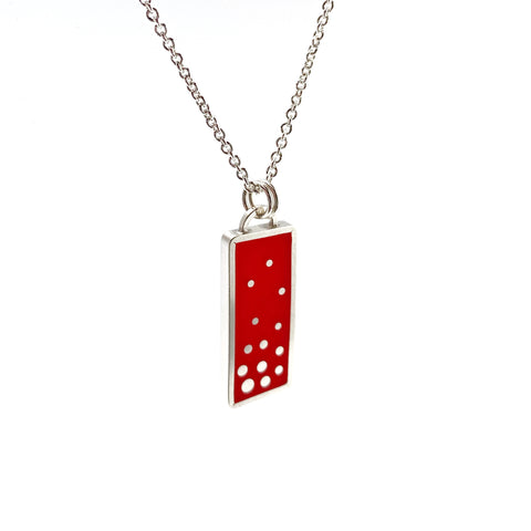 Dashed Necklace in red
