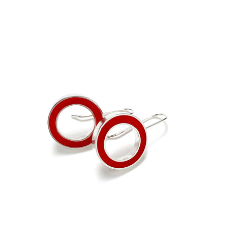 It's Okay Earrings red