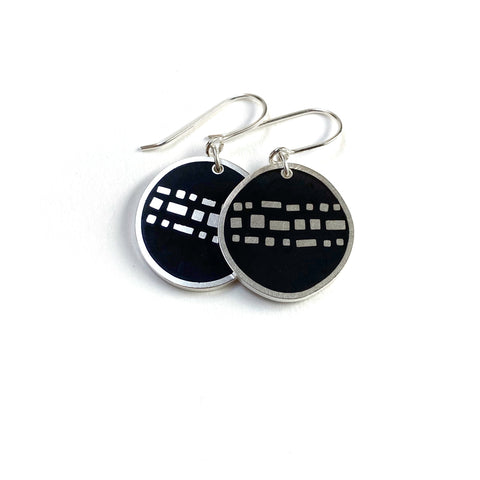 Cobble Earrings black