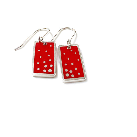Dashed Earrings red