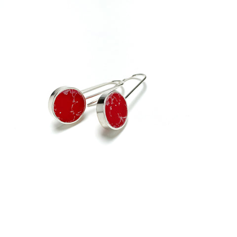 Don't Stop Earrings red and white