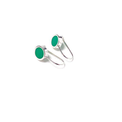 This Year Earrings small green