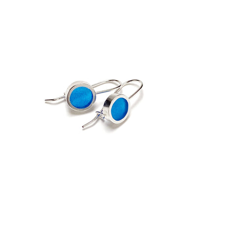This Year Earrings small blue
