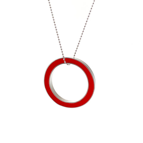 It's Okay Necklace red