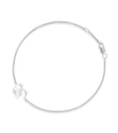 Petite Om Bracelet Single Diamond Silver