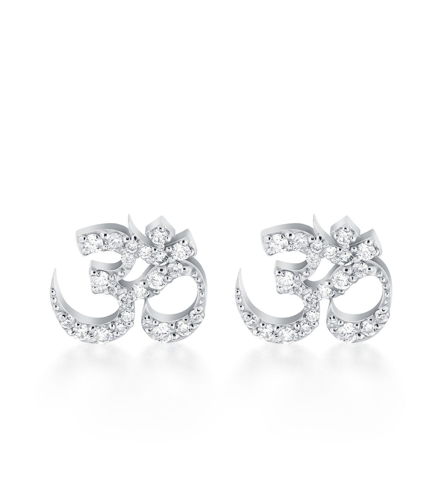 Petite Om Diamond Earrings Gold