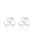 Petite Om Earrings Single Diamond Gold