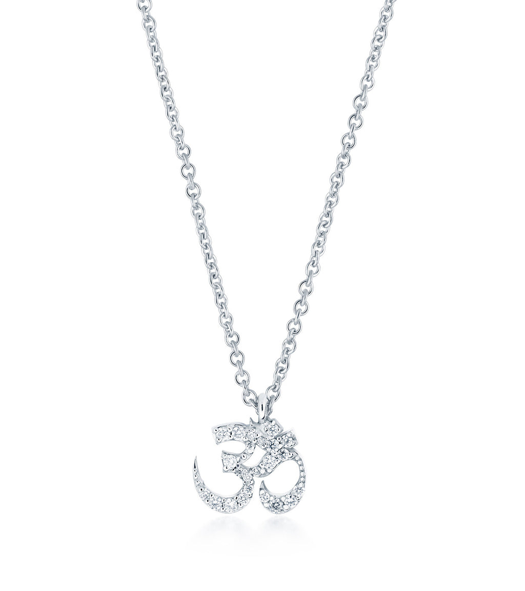 Petite Om Diamond Necklace Gold