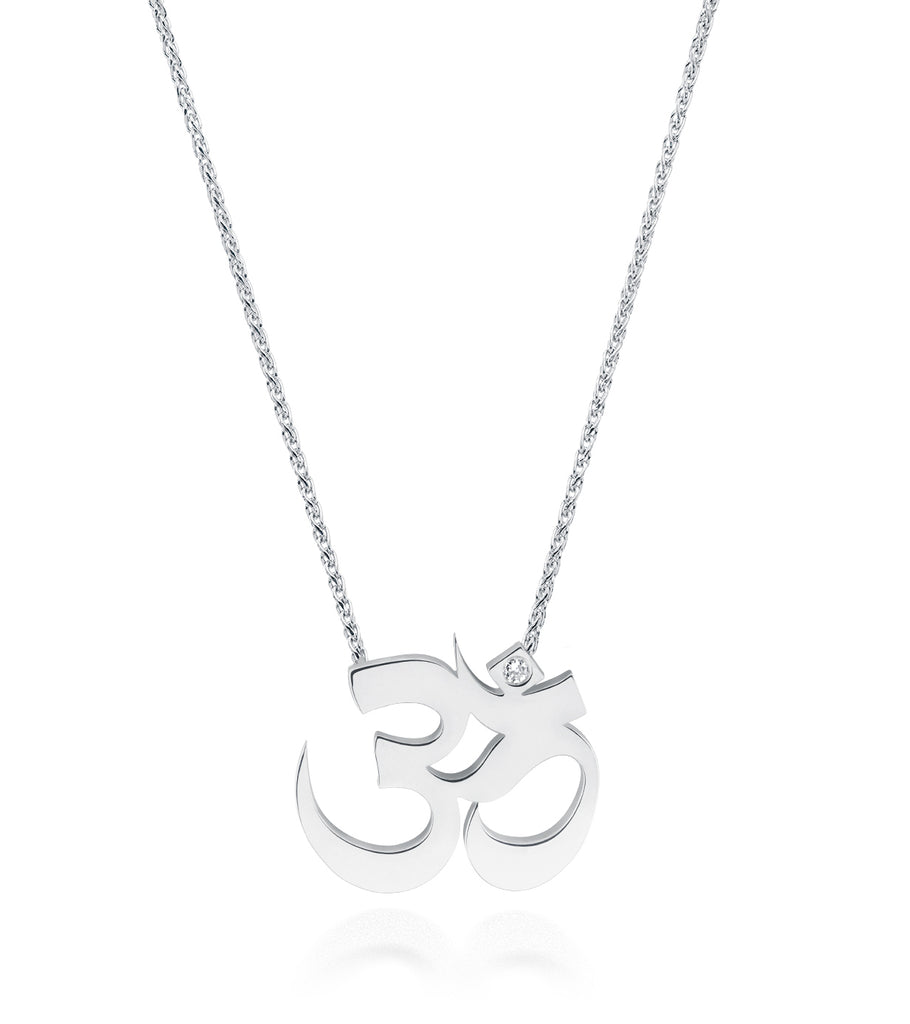 Unity Om Large Necklace Silver