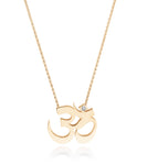 Unity Om Large Necklace Gold