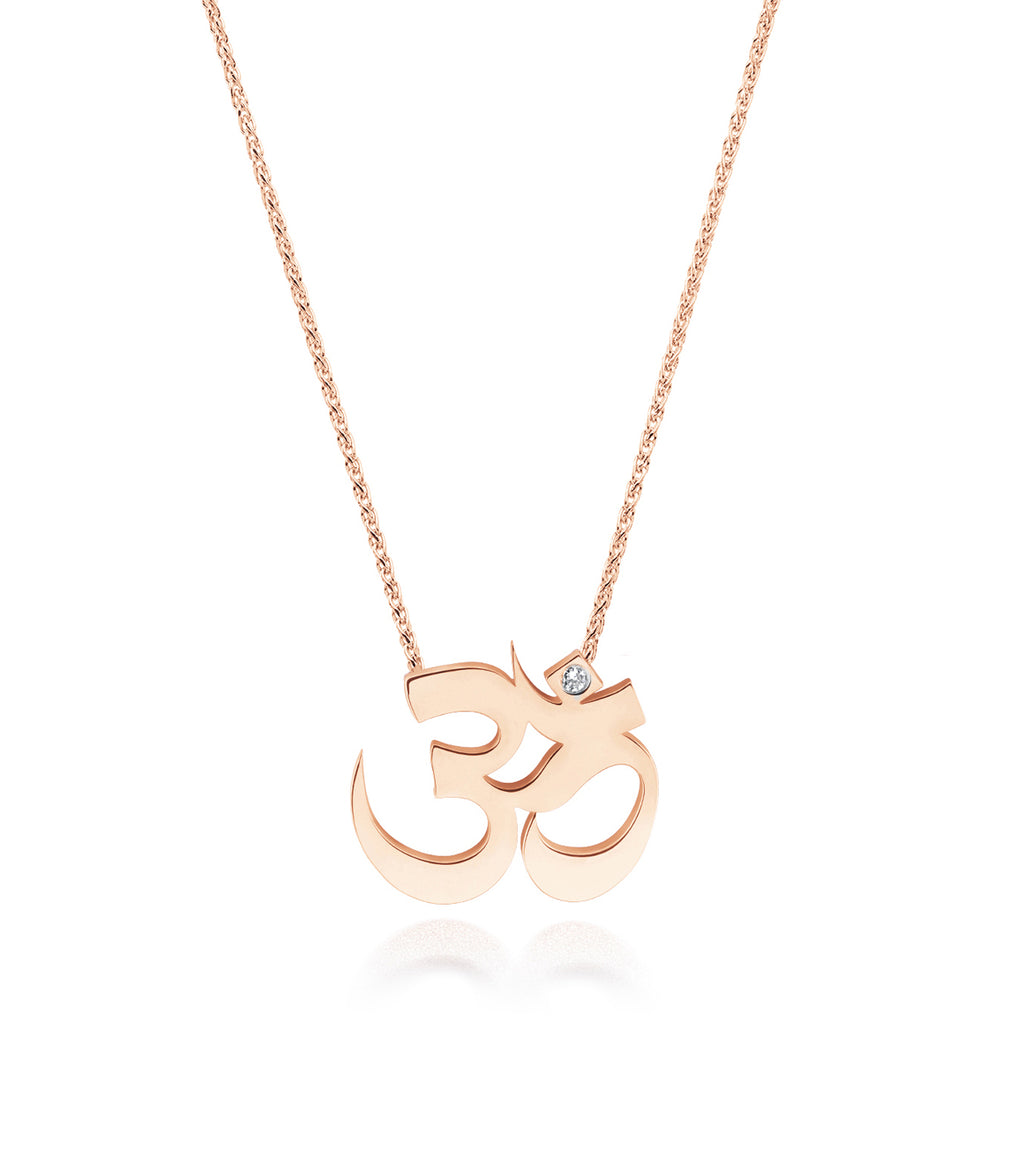 Unity Om Small Necklace Gold