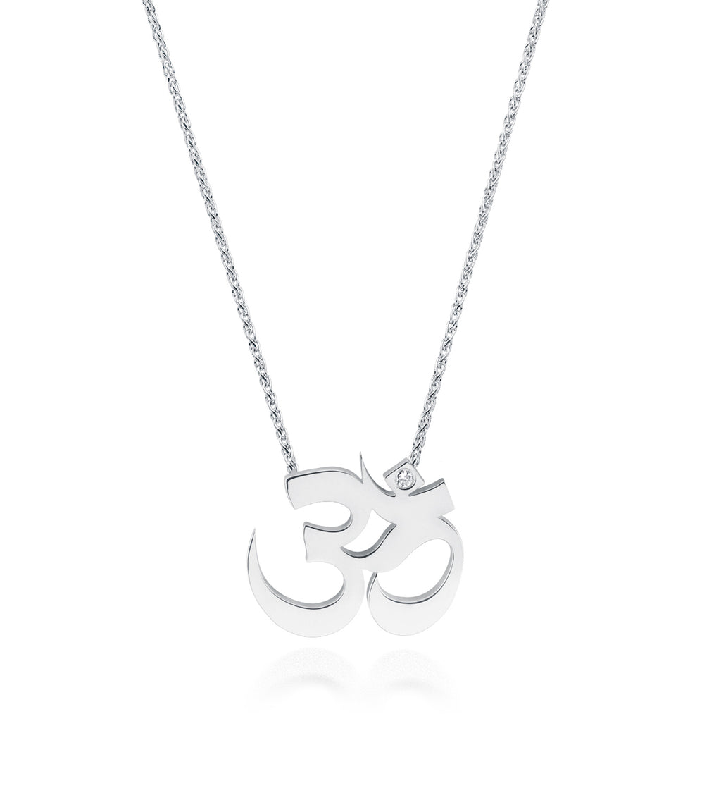 Unity Om Small Necklace Silver