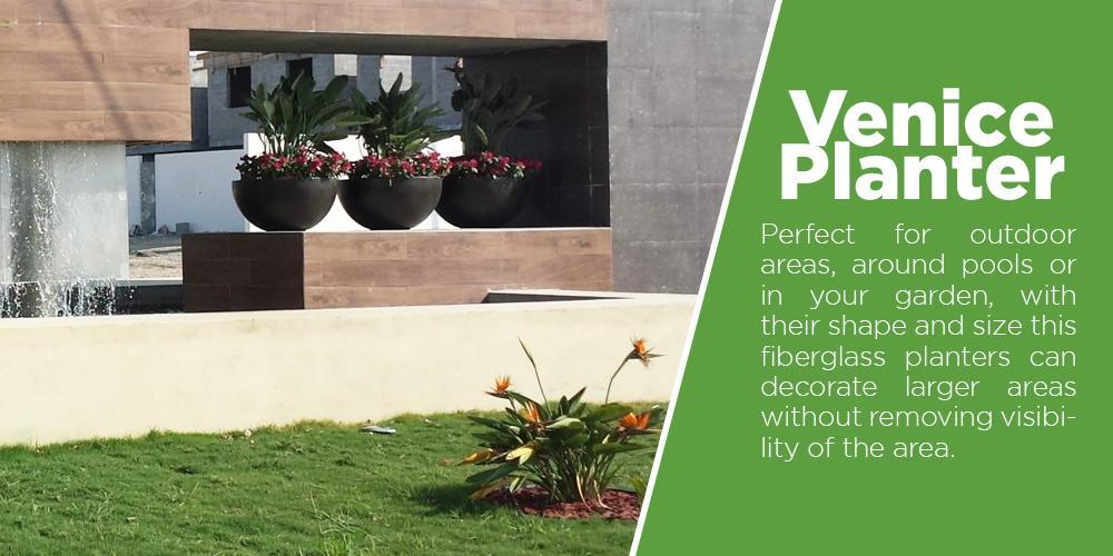 This fiberglass planters are perfect symmetry for your home or garden, with its smooths sides its perfect for almost any type of plant or tree, the larger Cubic Planters are ideal for trees for decorating shopping malls, hotels, or your garden. While the small Cubic Planters are ideal for inside the house or in your entrance.