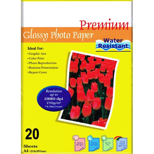 InkPost Glossy 210gsm A4 20pk Photo Paper