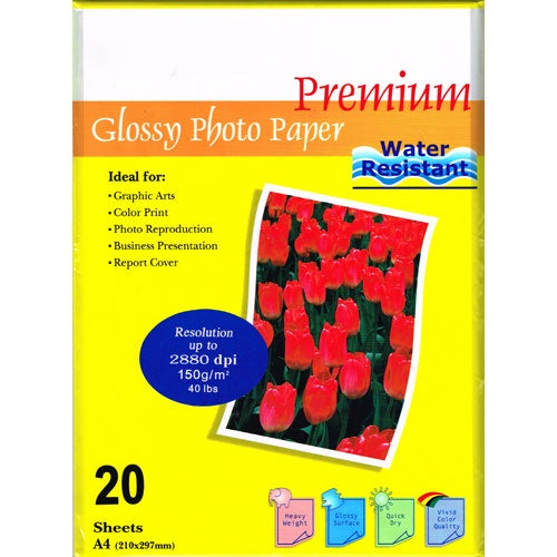 InkPost Glossy 150gsm A4 20pk Photo Paper