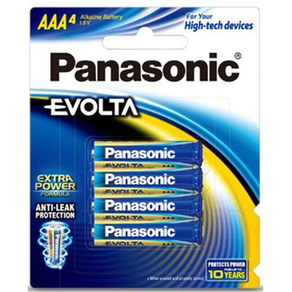 Panasonic Evolta AAA Alkaline Battery 4 Pack