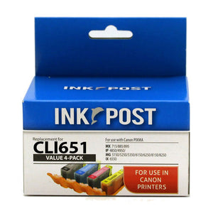 INKPOST for Canon CLI651XL Value 4 Pack