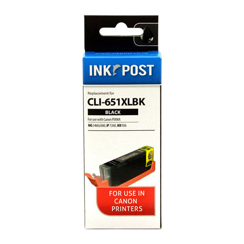 INKPOST for Canon Ink CLI651XL Black