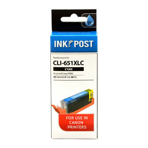 INKPOST for Canon Ink CLI651XL Cyan