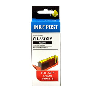 INKPOST for Canon Ink CLI651XL Yellow