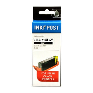 INKPOST for Canon CLI671XL Grey Ink Cartridge